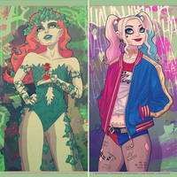 Ivy and Harley by ScottLewisART