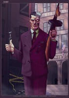DC Set 3 - Two-Face by ScottLewisART