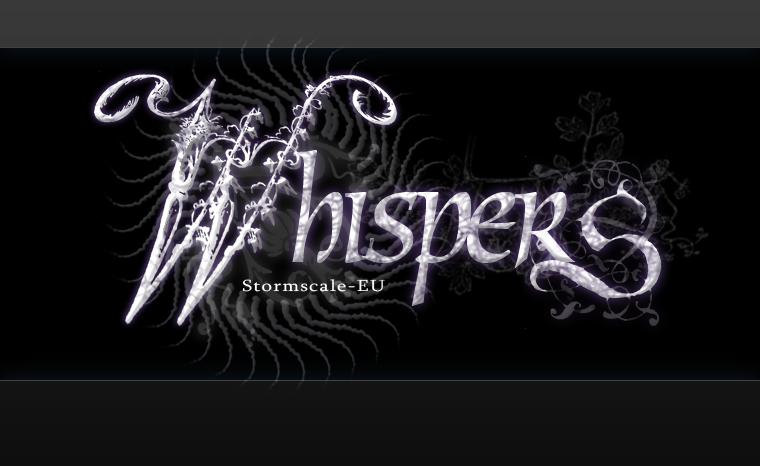 whispers guild logo by gurunoid on deviantart