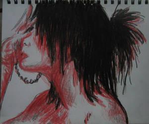 crayon sketch by kat-su-chan