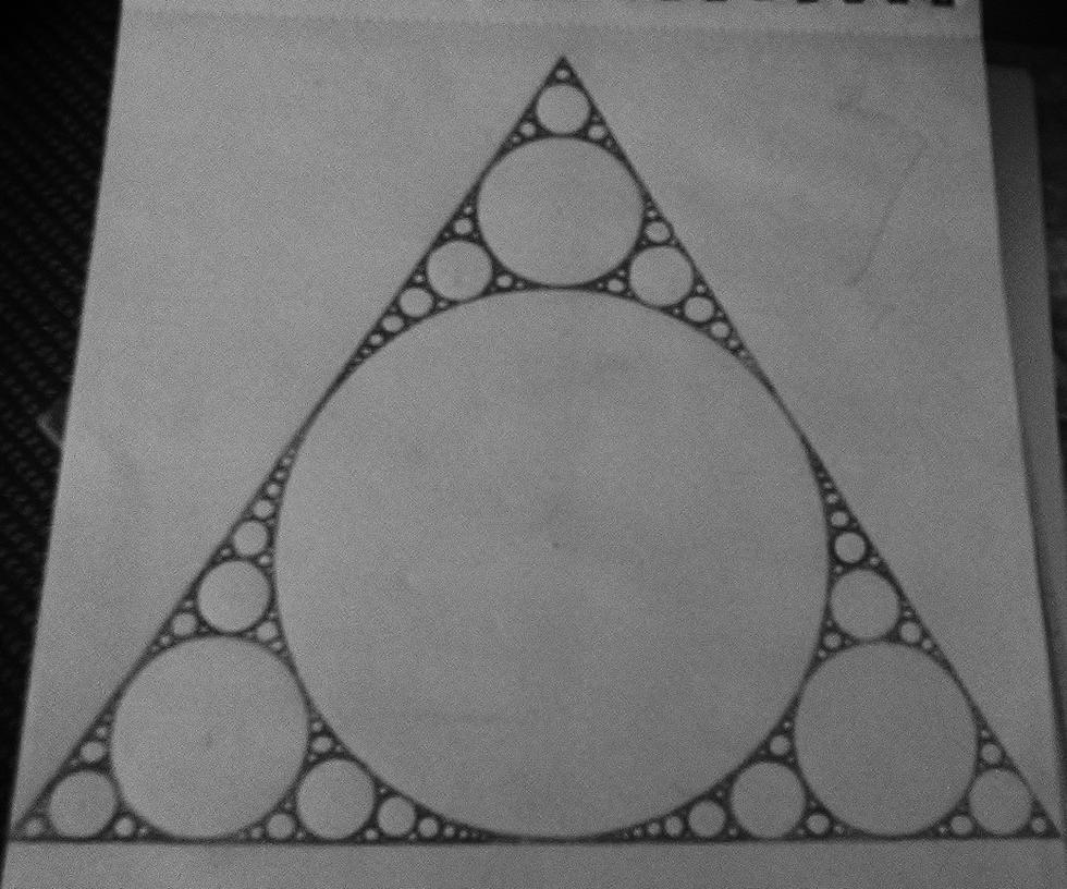 Fractal Circle Circle triangle fractal by