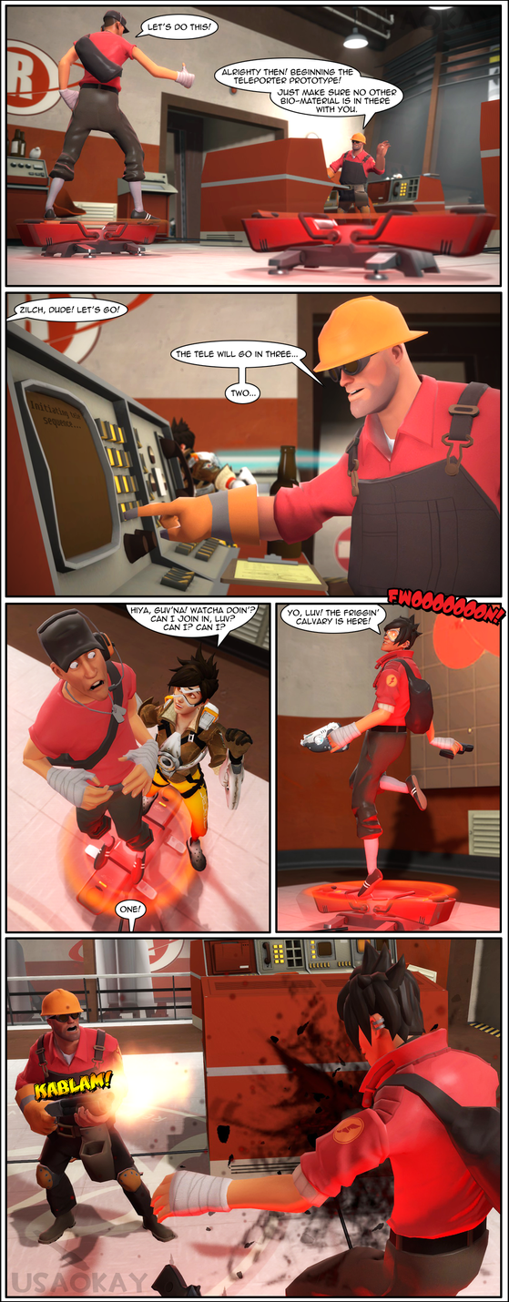 Team Fortress 2 x Overwatch - The Brit by usaokay