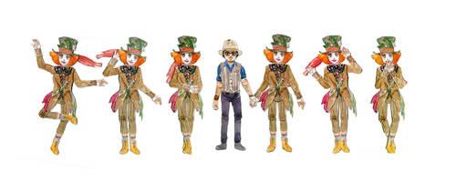 Hatter Paper Doll