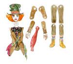Hatter Paper Doll Design