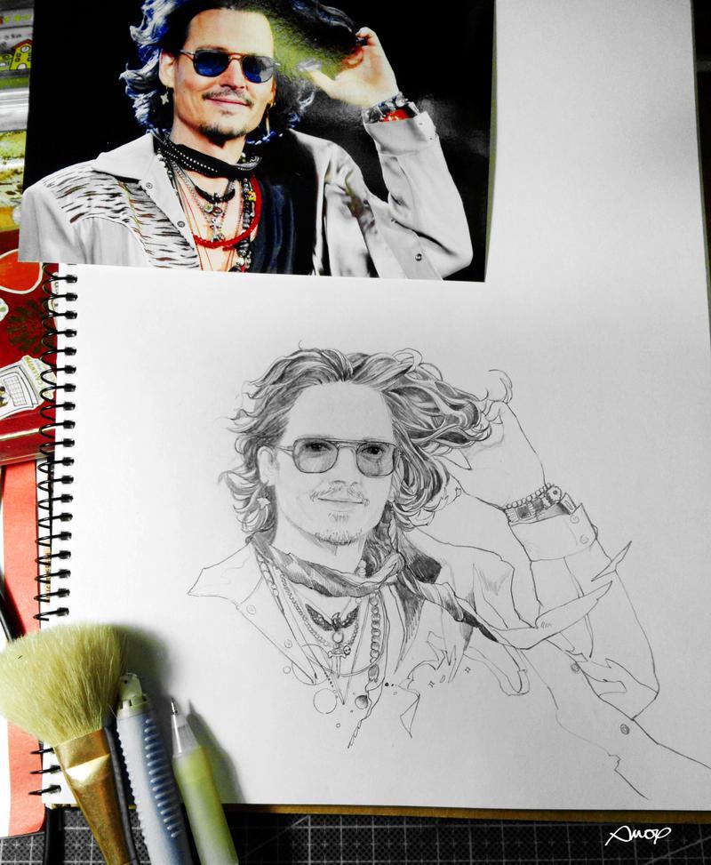 2012-8-5 Johnny Depp WIP by amoykid
