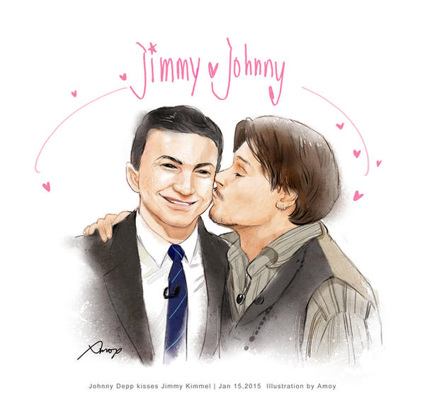 2015-1-16 johnny kisses jimmy by amoykid