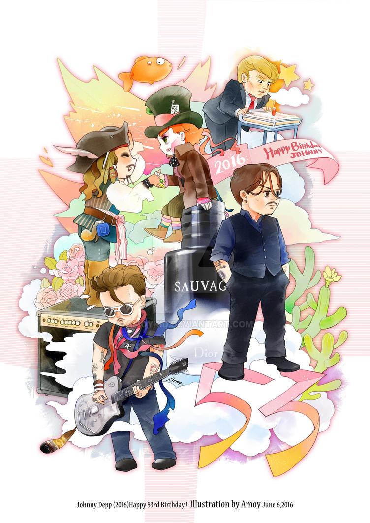 2016-6-9 Happy Birthday Johnny by amoykid