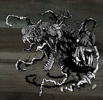Zombie T Rex Corpse by ryn0saur