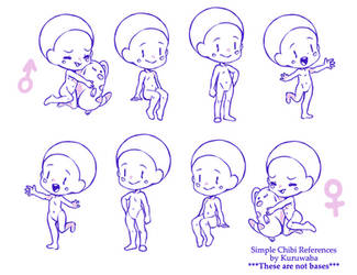 Simple Chibi References. by Quartette