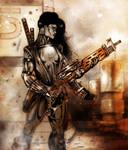 Dystopian Bounty Hunter II by ShamanX