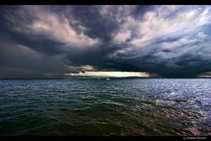 Stormy weather over Bodensee by JoInnovate