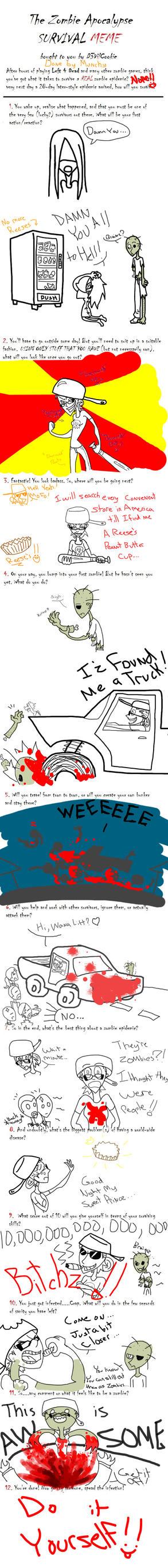 Zombie Apocalypse Meme by M-u-n-c-h-y