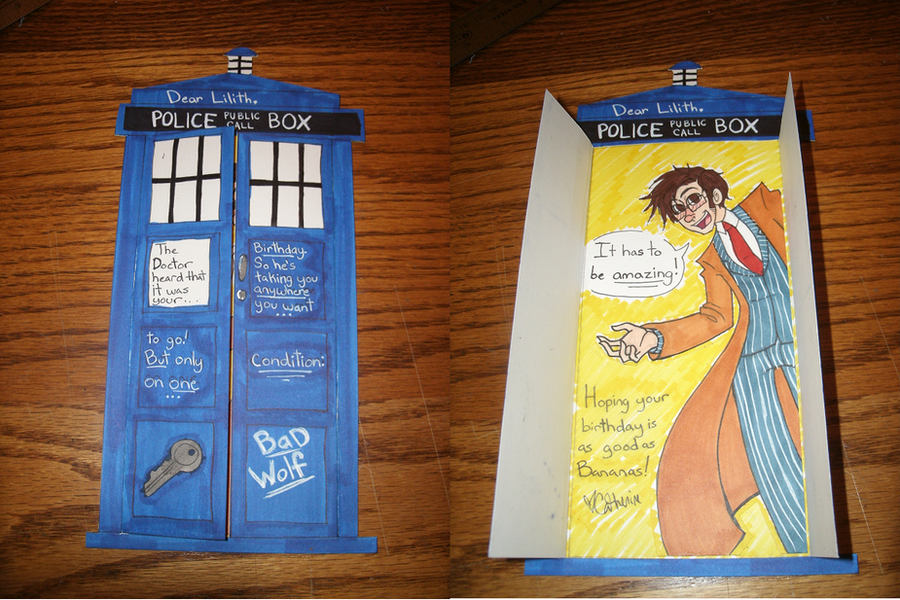 My Sisters Birthday Card by Munchy on DeviantArt – Dr Who Birthday Card