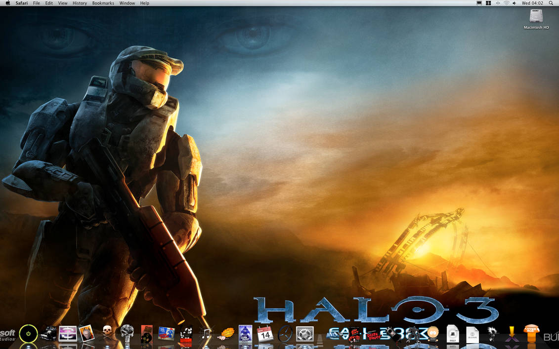 Leopard Desktop with my icons