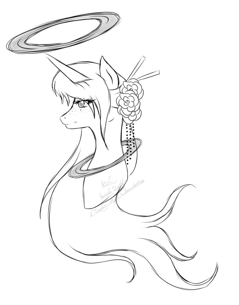 oOSolarEclipseOo - Empyrean Plainsong Sketch by JaegerPony