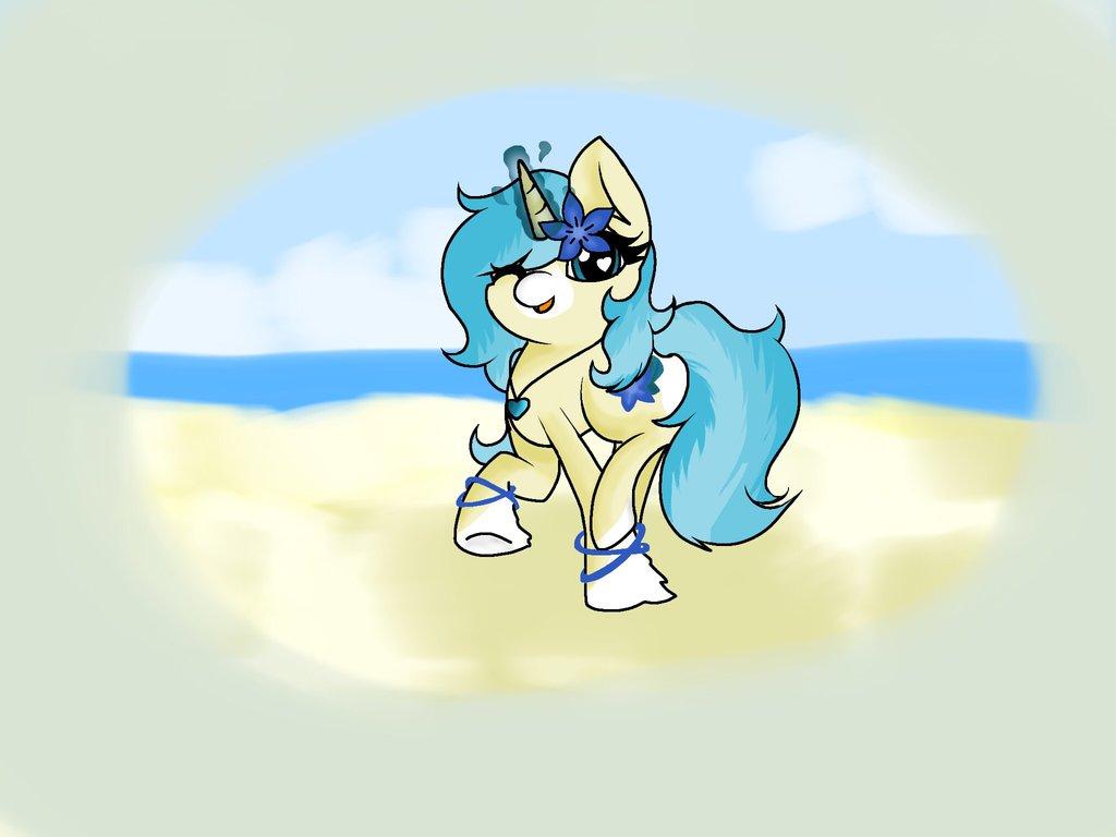 AryaTheWolfCat - Ocean Breeze by JaegerPony