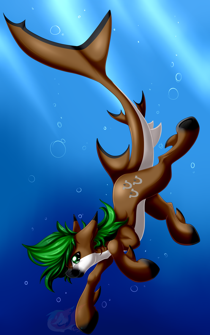 ThePinkShark - Jaeger Shark Pony by JaegerPony
