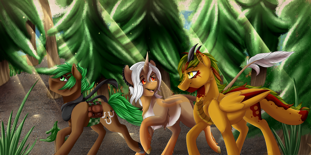 Crecious - Forested Path by JaegerPony