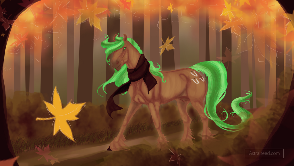 Astralseed - Forest Path by JaegerPony