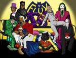 Flux vs. Batman Halloween by delynn