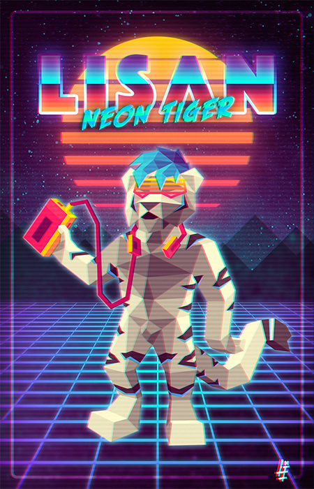 Lisan Neon Tiger by LupusInsanus