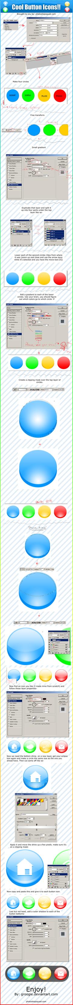 Button Icons Tutorial by Groogie