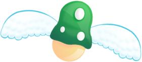 Winged Mushroom by Groogie