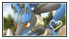 Lucario stamp by LJ-Pokemon