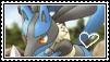 Lucario stamp by LJ-Pokemon