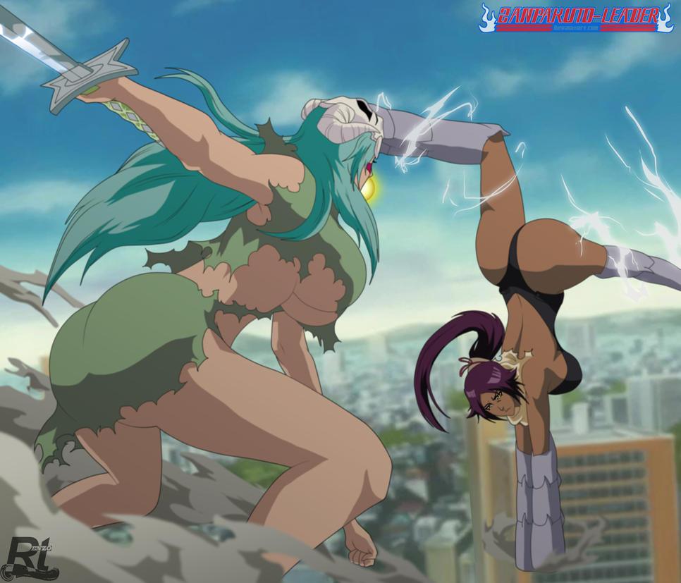 Nelliel vs Yoruichi by Rtenzo