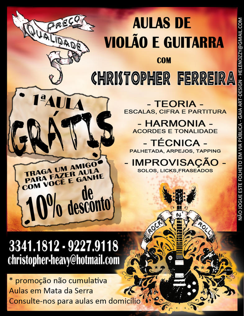 Christopher Guitar Flyer By Bitchblase
