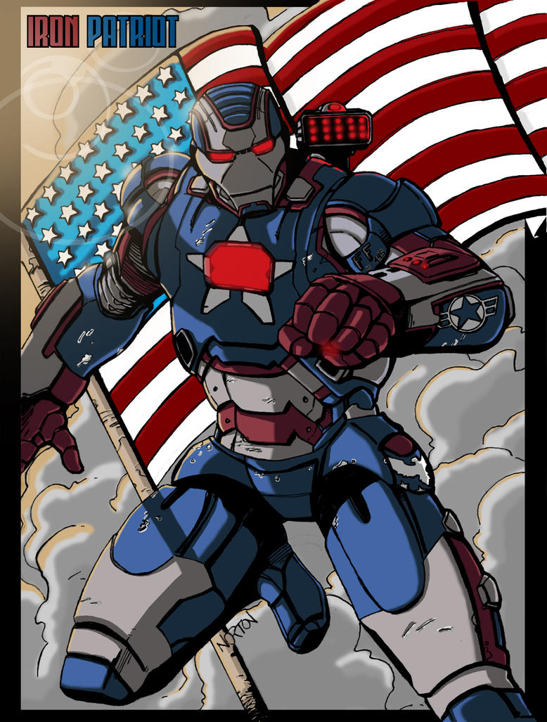 Iron Patriot Coloring Page Iron Patriot Color by