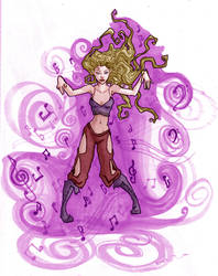Elyse the Bard by AngellofFyre