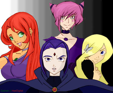 Teen Titans Girls Colaberative by gadren
