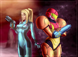 Samus Aran (commission) by CAN07
