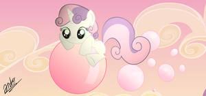 Sweetie Belle and Bubblegums.