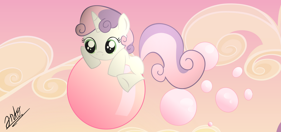 Sweetie Belle and Bubblegums. by DrPancakees