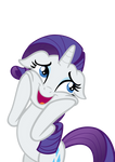 Rarity is delighted by the crystal ponies.