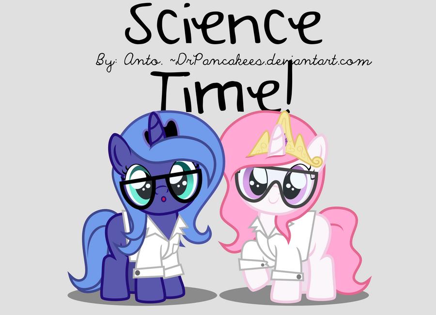 Scientist ponies. by DrPancakees