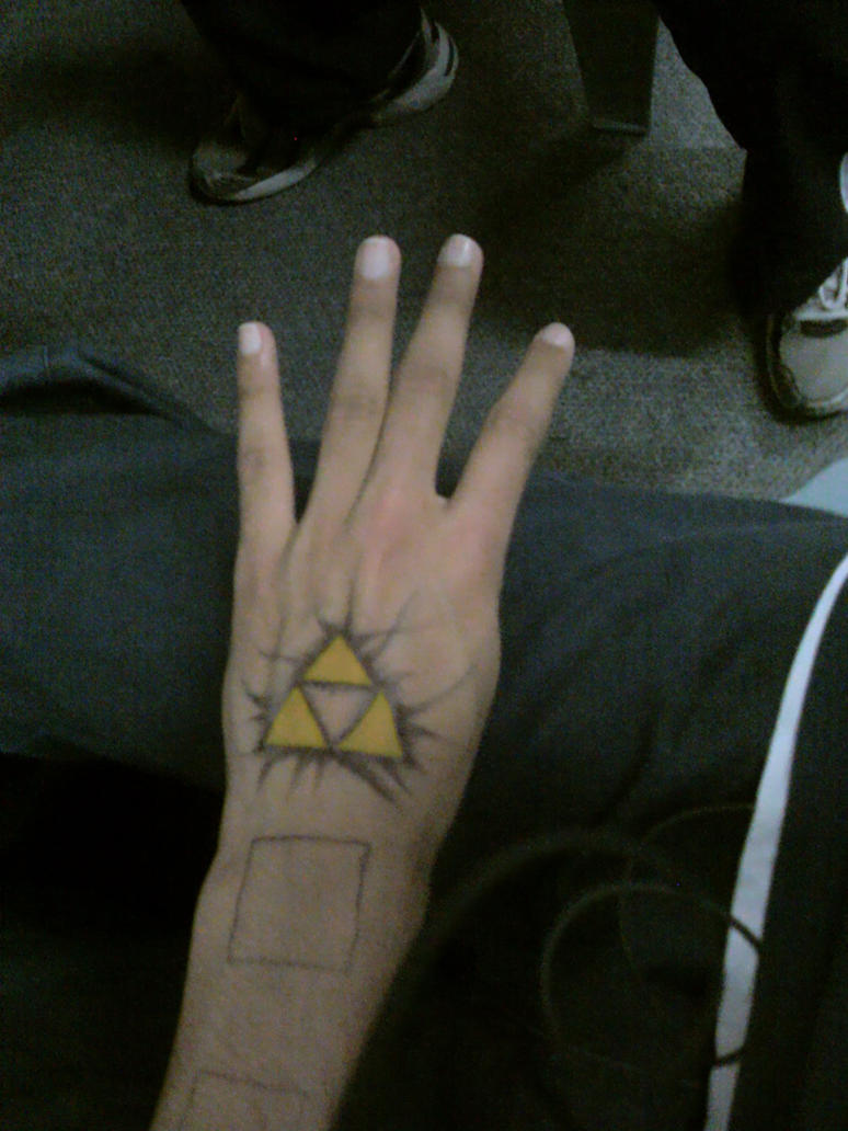 Triforce Pen Drawn Tattoo by Smashbrudda
