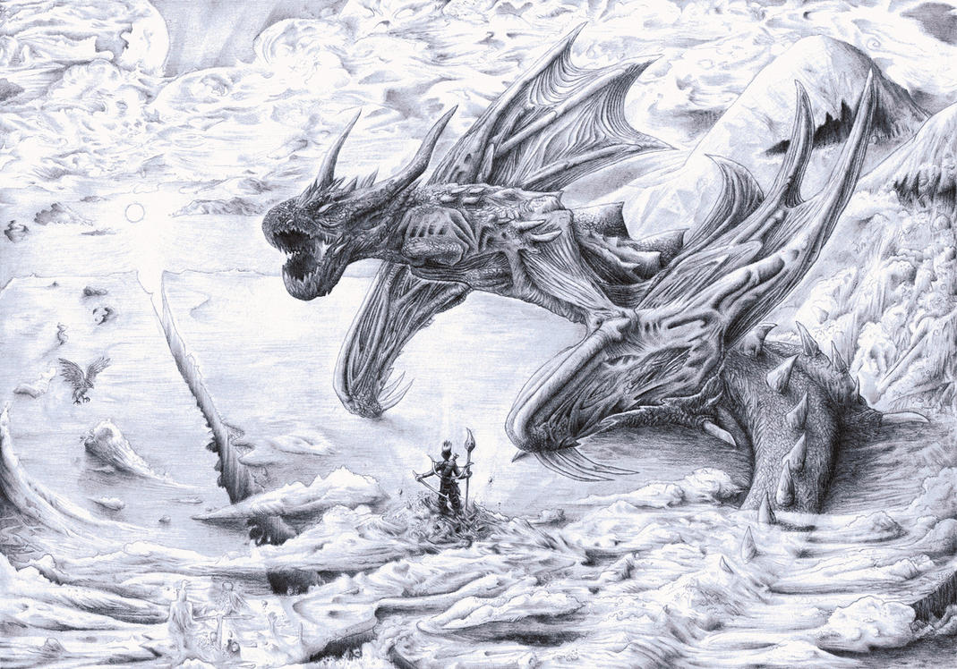 Attack on Titan Dragon by Smashbrudda
