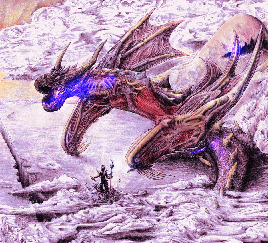 Attack on Titan Dragon (digital coloured) by Smashbrudda