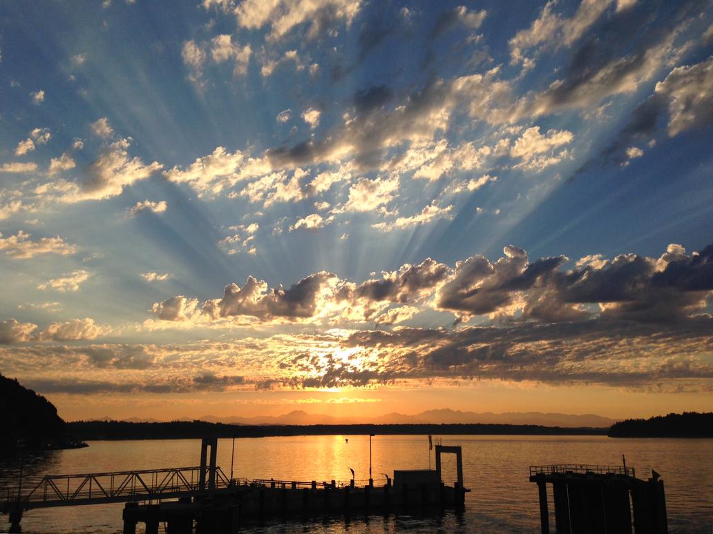 Epic Sunset at Vashon by Coscomomo
