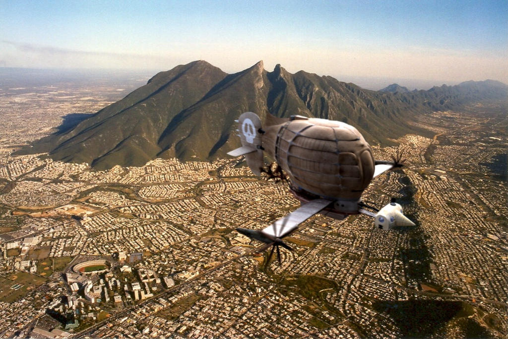 Tiger Moth over Monterrey by Coscomomo