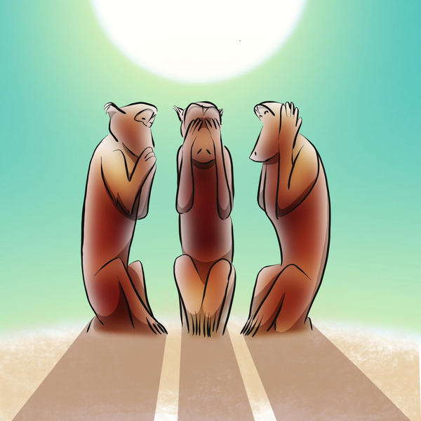 Three Wise Monkeys by Coscomomo