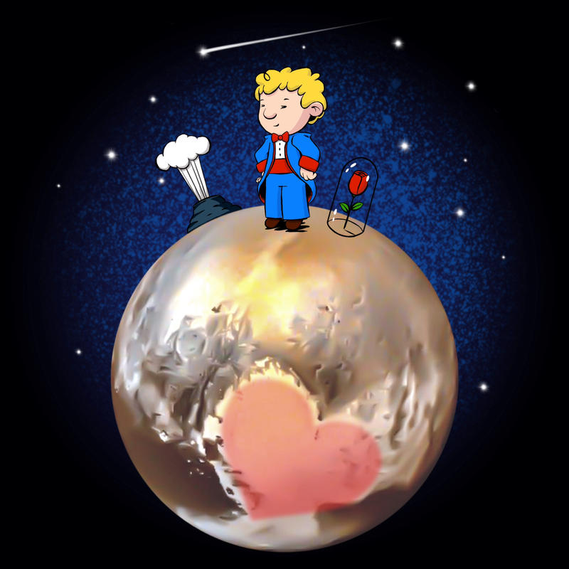 The Little Prince on Pluto by Coscomomo