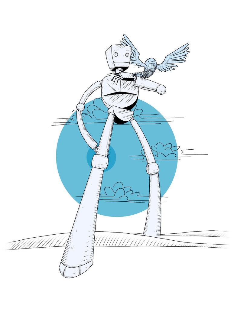 Robot with Whalebird V.2 by Coscomomo