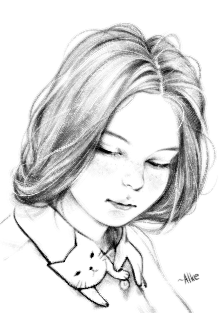 A girl by ALKEMANUBIS