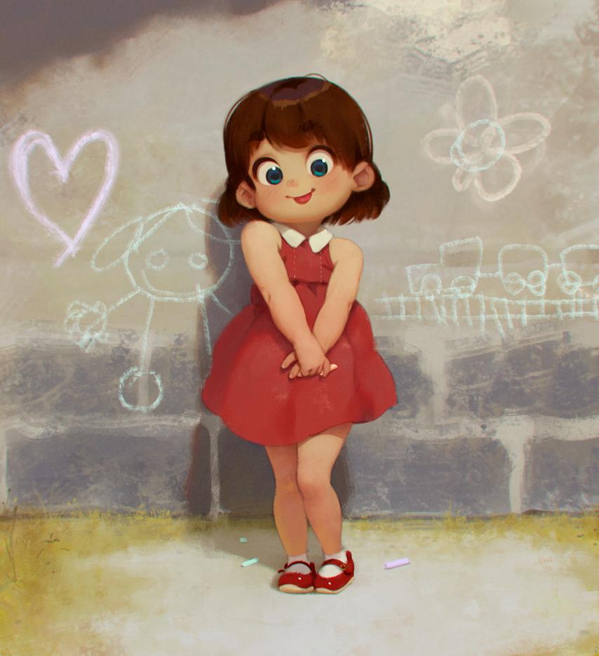 Pequenia artista by ALKEMANUBIS