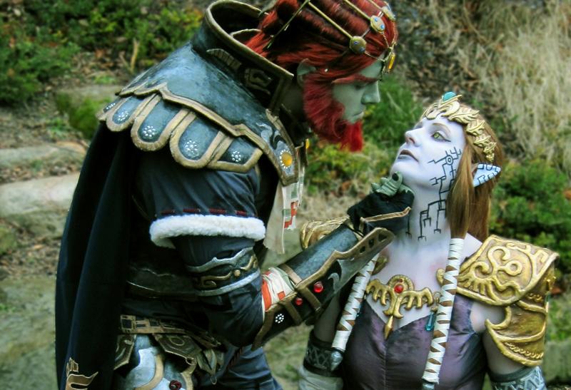 Ganondorf and Puppet Zelda by seifer-sama